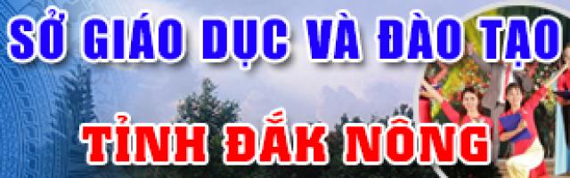Sở GD&ĐT Đắk Nông
