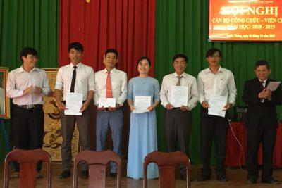 Hội nghị cán bộ, công chức, viên chức năm học 2018-2019